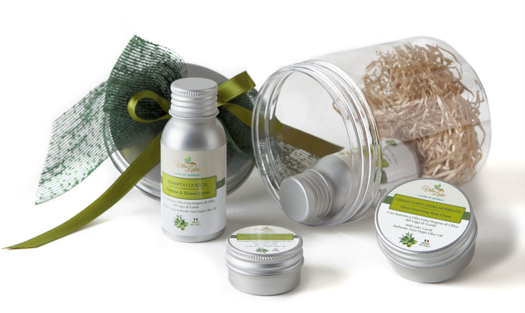 Cosmetics from Lake Garda. Gift (or gift yourself) 4 natural beauty products in travel size