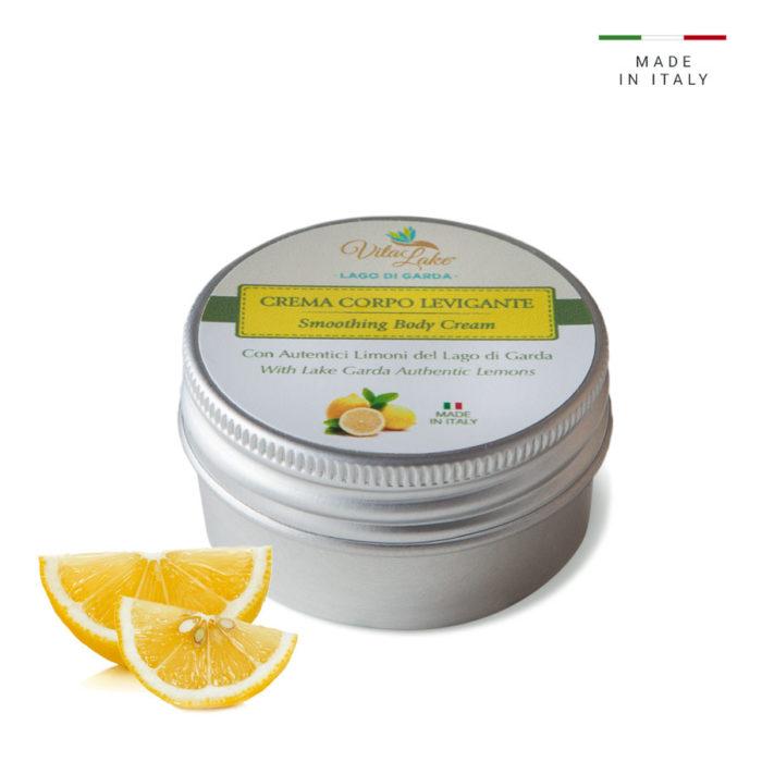 Vitalake Crema levigante al Limone: la naturale azione esfoliante del Succo di Limone* leviga la pelle del corpo rendondola morbida e setosa.