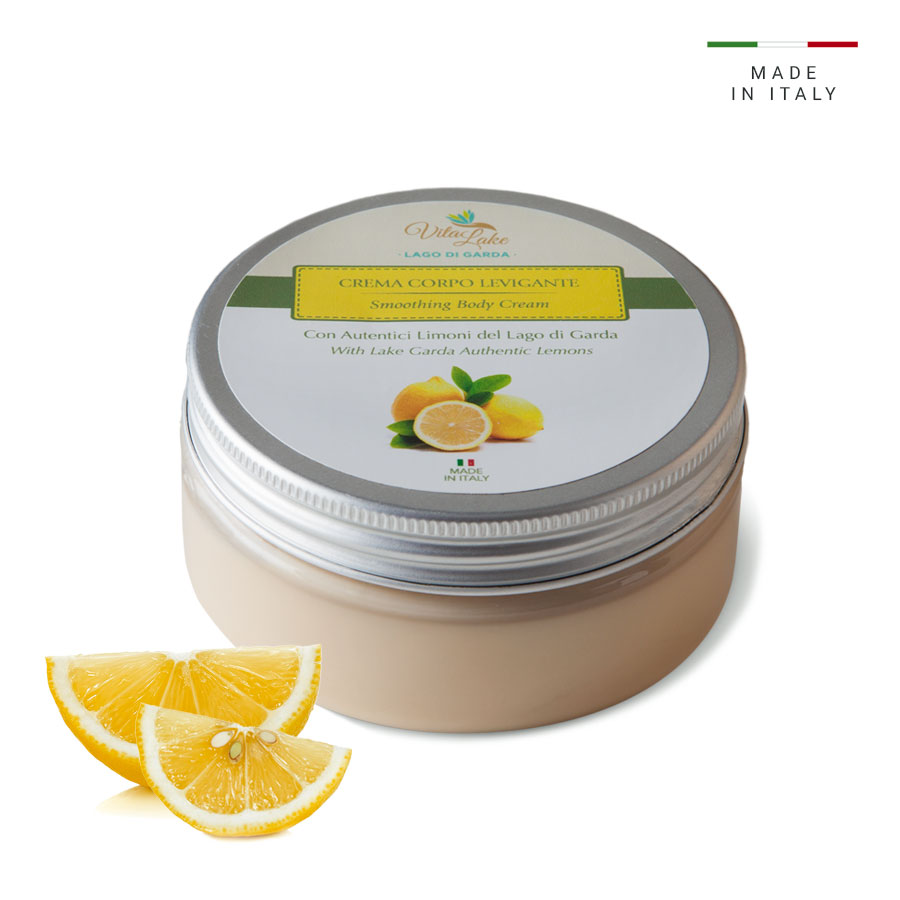 Smoothing body cream Vitalake with Lemon Juice smoothes the skin of the body making it soft and silky.