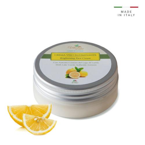 Crema viso illuminante VitaLake: fresca e leggera ideale per idratare il viso, levigare la pelle ed illuminare il colorito. Al Succo di Limone dell Riviera del Lago di Garda