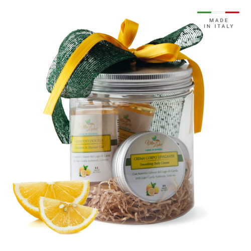 Give gift line lemon Vtalake: the sensorial universe of Lake Garda, recalls the scents and colors of a unique territory with the most expensive people