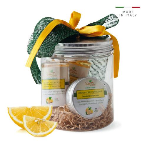 Regala gift linea limone di Vtalake: l'universo sensoriale del Lago di Garda, rievoca i profumi e colori di un territorio unico con le persone più care.