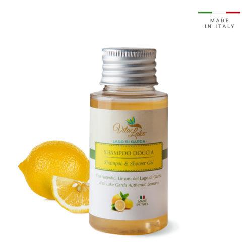 Parti per un viaggio? shampoo doccia al Succo di Limone: le fresche e frizzanti note di limone regalano una piacevole sensazione di benessere ed energia.