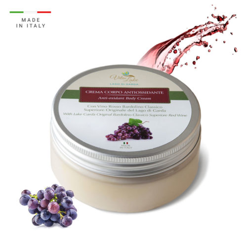 Anti-oxidant  body cream : helps to keep the body skin young and fresh thanks to the powerful antioxidant . Bardolino wine range Vitalake